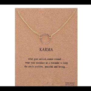 🌞14k gold dipped Karma Circle necklace 🌞